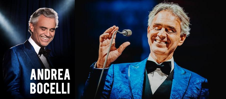 Andrea Bocelli Tickets Calendar Jul 2018 Td Garden Boston