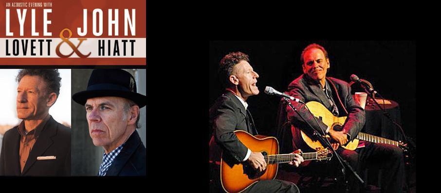 Lyle Lovett & John Hiatt at Shubert Theatre