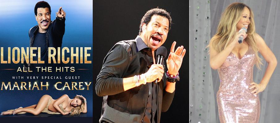 Lionel Richie with Mariah Carey at TD Garden