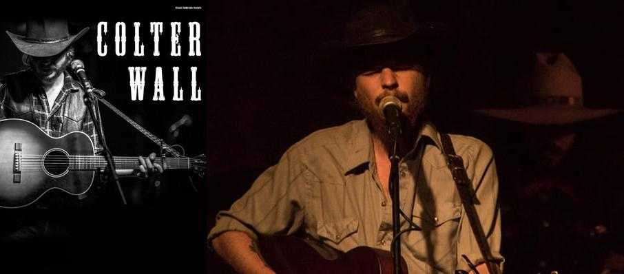 Colter Wall at Somerville Theatre