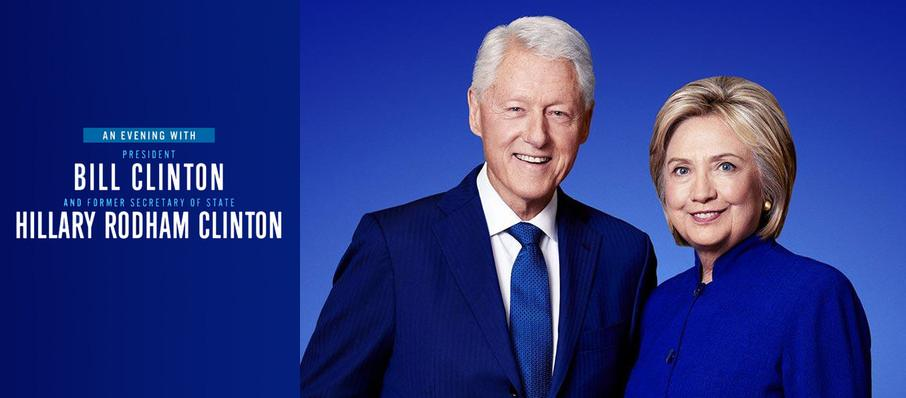 An Evening with Bill and Hillary Clinton at Citizens Bank Opera House