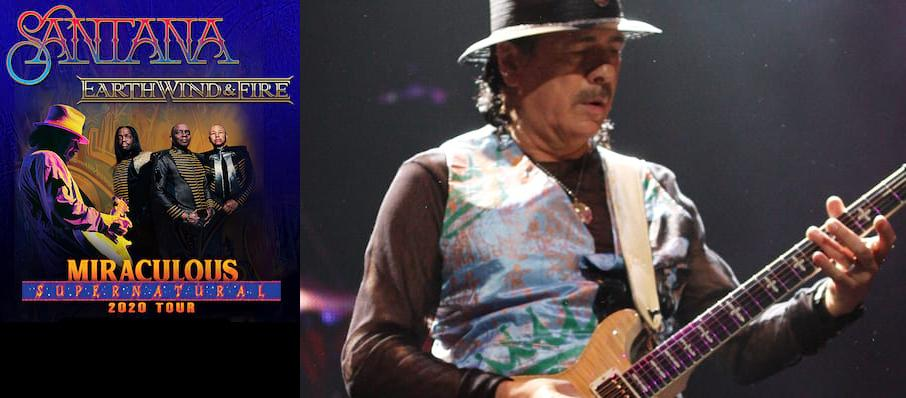 Santana with Earth Wind and Fire at Xfinity Center