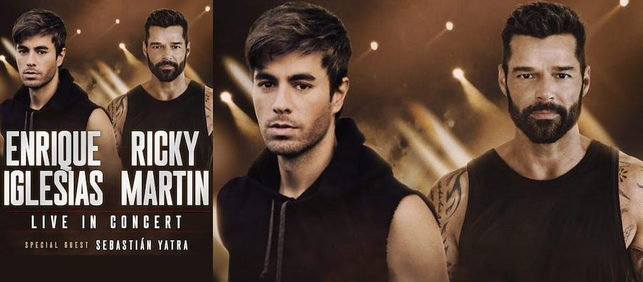 Enrique Iglesias and Ricky Martin at TD Garden
