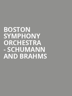 Boston Symphony Orchestra - Schumann and Brahms at Tanglewood Music Center