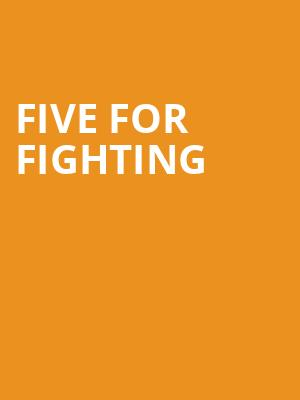 Five for Fighting at Wilbur Theater