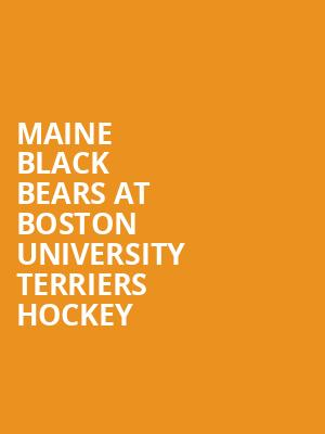 Maine Black Bears at Boston University Terriers Hockey at Agganis Arena