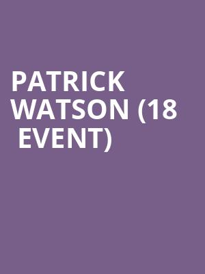 Patrick Watson (18+ Event) at The Sinclair Music Hall
