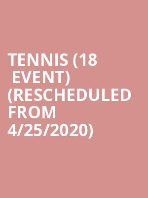 Tennis (18+ Event) (Rescheduled from 4/25/2020) at Royale Boston