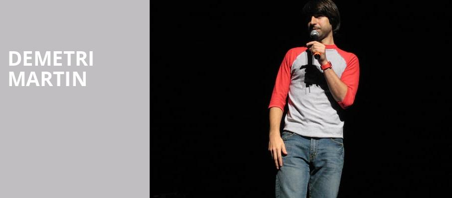 Demetri Martin, Wilbur Theater, Boston