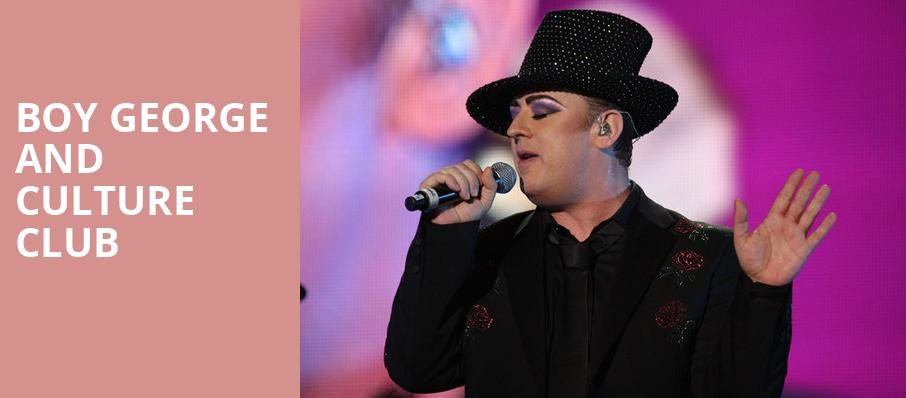 Boy George and Culture Club, Wang Theater, Boston