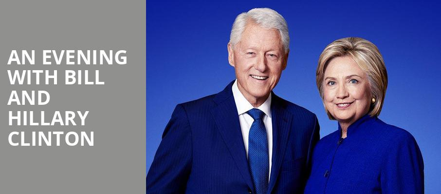An Evening with Bill and Hillary Clinton, Citizens Bank Opera House, Boston