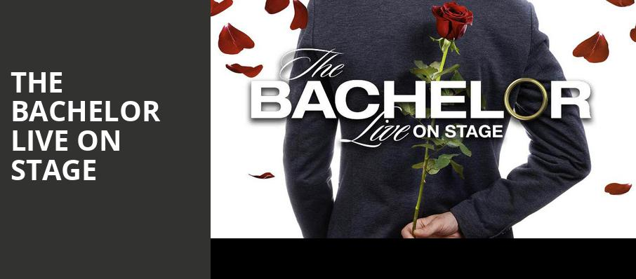 The Bachelor Live On Stage, Capitol Center for the Arts, Boston