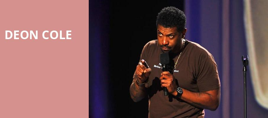 Deon Cole, Wilbur Theater, Boston