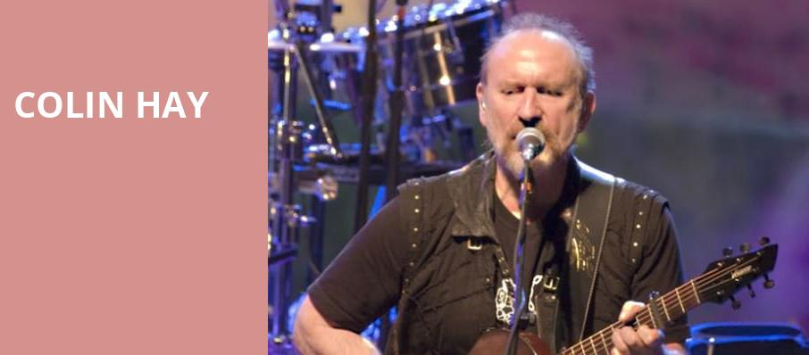 Colin Hay, Wilbur Theater, Boston