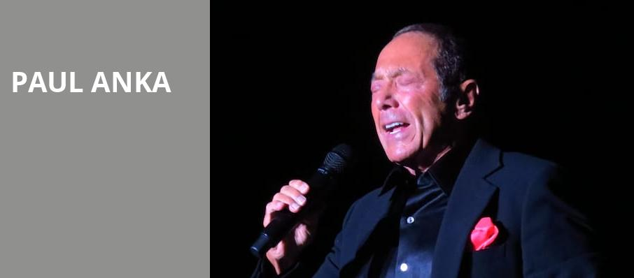 Paul Anka, Lynn Memorial Auditorium, Boston