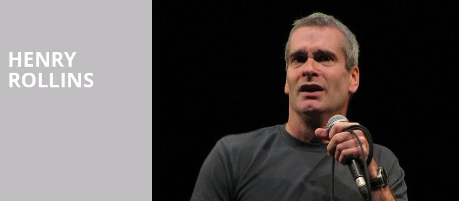 Henry Rollins, Wilbur Theater, Boston