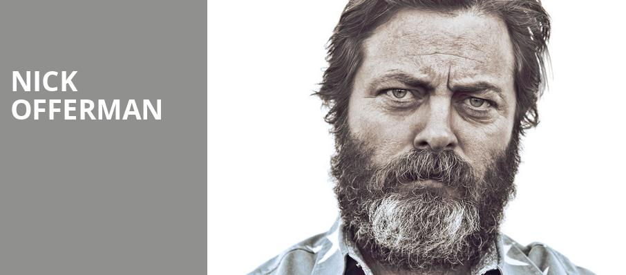 Nick Offerman, Chevalier Theatre, Boston